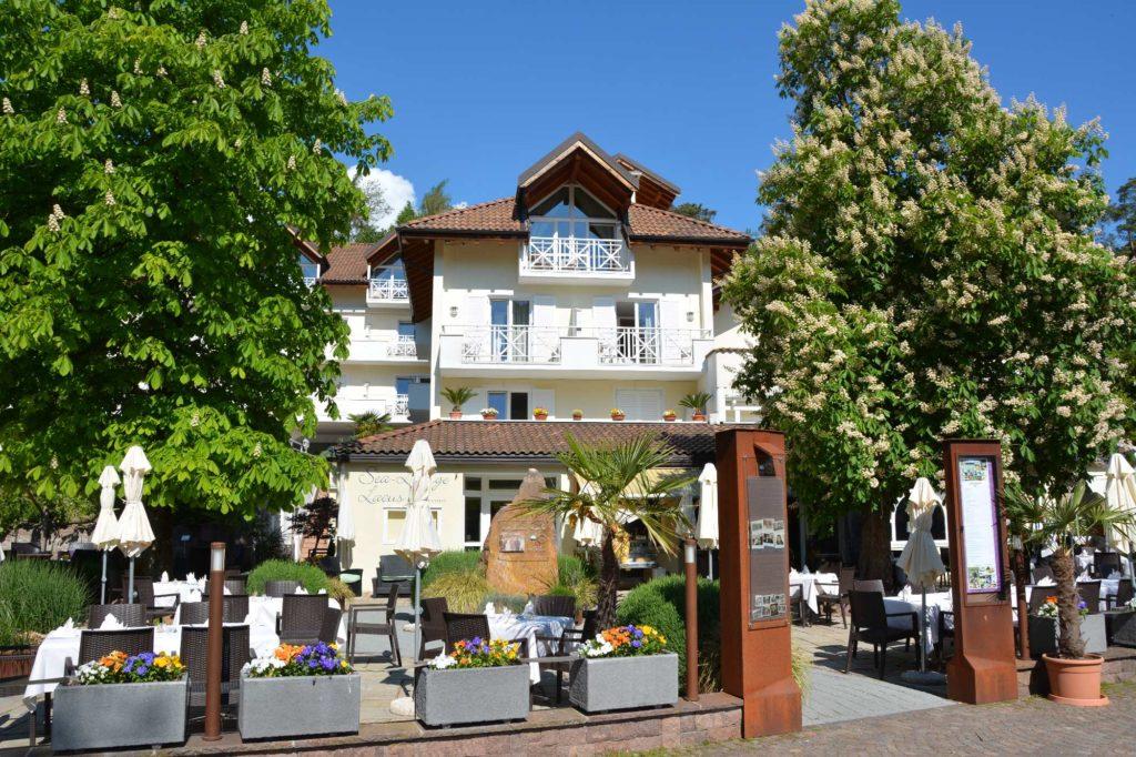 Das Hotel am Montiggler See mit Restaurant